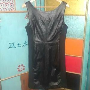 Betsey Johnson Faux Leather Dress Size 6 Black